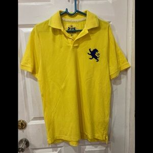 Express men's yellow and blue polo shirt size m